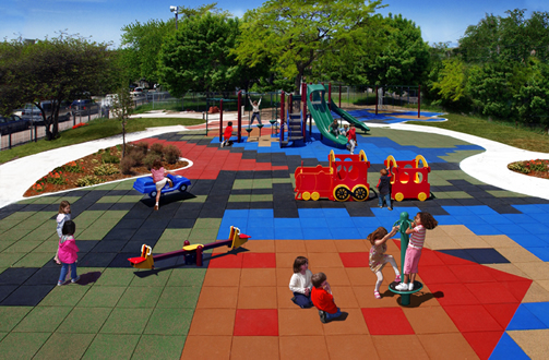 Playground Rubber Tiles - For Safety