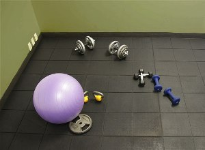 Rubber Tile Used In Home Gym