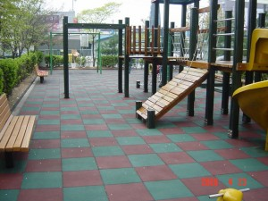 Rubber Tiles Used In A Park