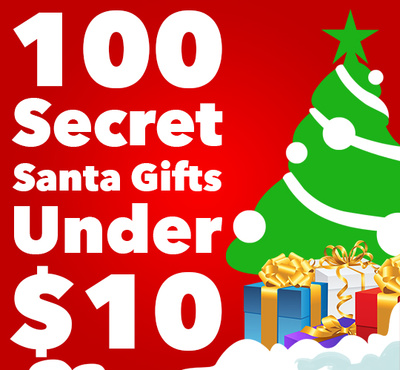 100 Secret Santa Gifts Under $10 - The Coolest Stuff Ever Blog