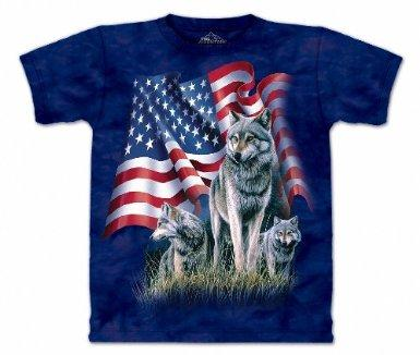 3 Wolf Flag Shirt