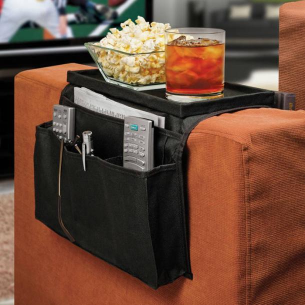 6 Pocket Couch Arm Rest Organizer