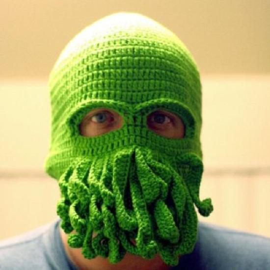 Cthulu Knitted Ski Mask