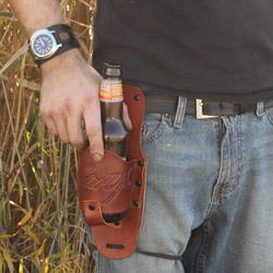 Leather Beer Hip Holster