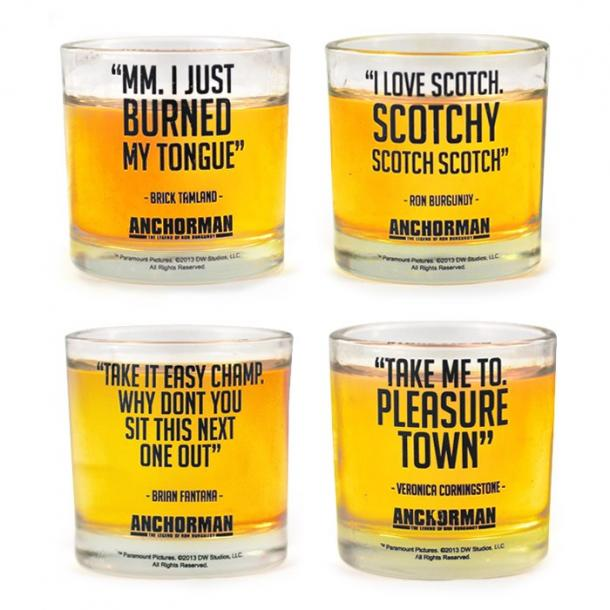 Anchorman Shot Glasses With Quotes
