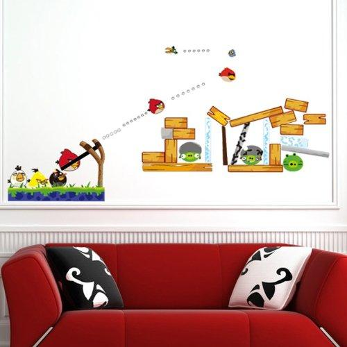 Angry birds wall decals the coolest stuff ever for Angry bird wall mural