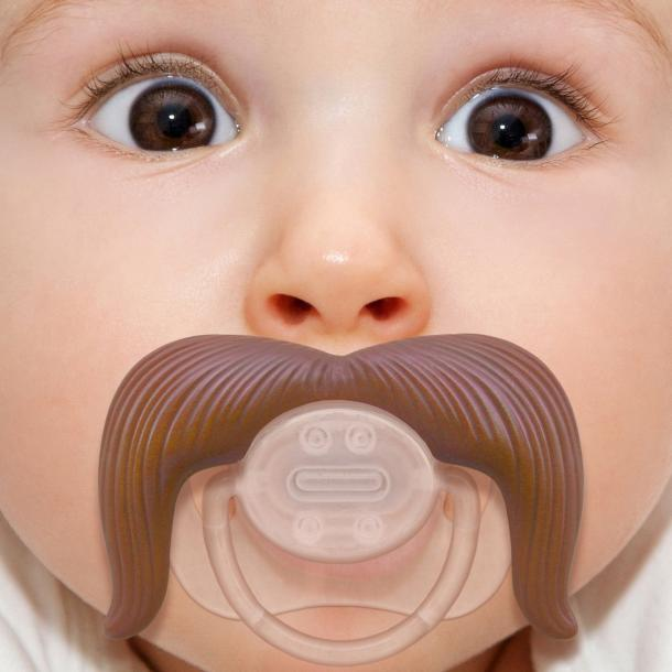 Baby Cowboy Mustache Pacifier