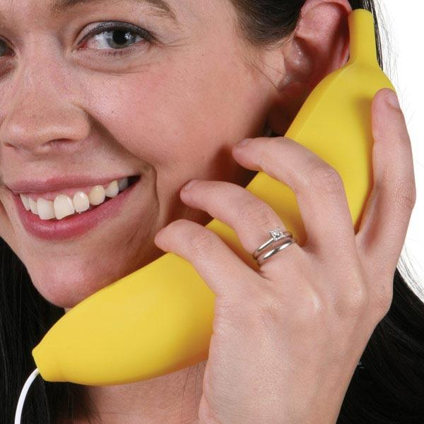Banana Phone Cell Phone Handset The Coolest Stuff Ever