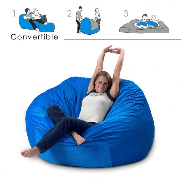 Convertible Bean Bag Chair Bed The Coolest Stuff Ever