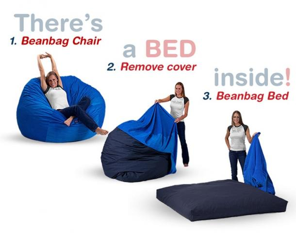 Bean Bag Chair That Converts To A Bed  sc 1 st  The Coolest Stuff Ever & Bean Bag Chair That Converts To A Bed | The Coolest Stuff Ever