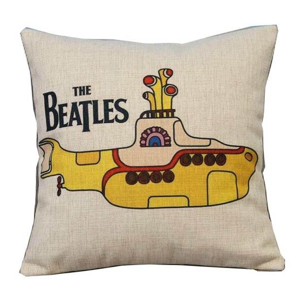 The Beatles Yellow Submarine Throw Pillow