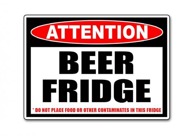Beer Fridge Only Sticker
