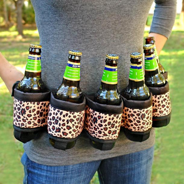 Beer Six-Pack Belt Holster