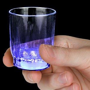 Blue LED Shot Glass