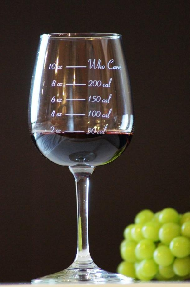 Calorie Counting Wine Glasses