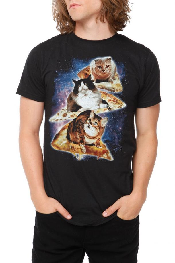 Cats On Pizza In Space T Shirt The Coolest Stuff Ever