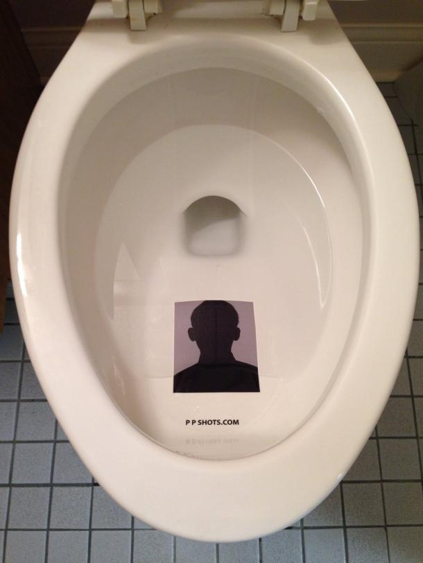 Toilet Target - Custom Toilet Photo