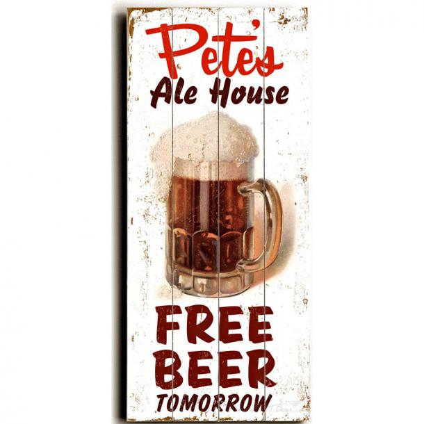 Customized Free Beer Tomorrow Sign