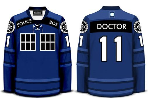 Dr. Who TARDIS Hockey Jersey