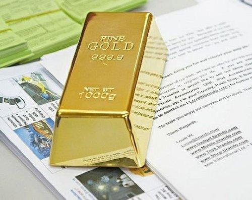 Fake Gold Bullion Bar Doorstop