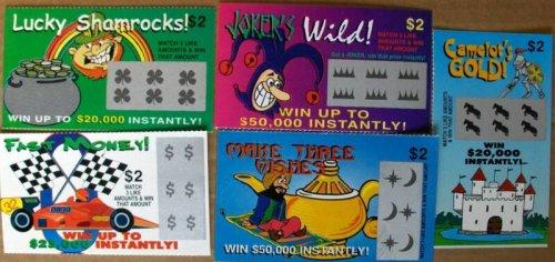 Fake Scratch-Off Lottery Tickets