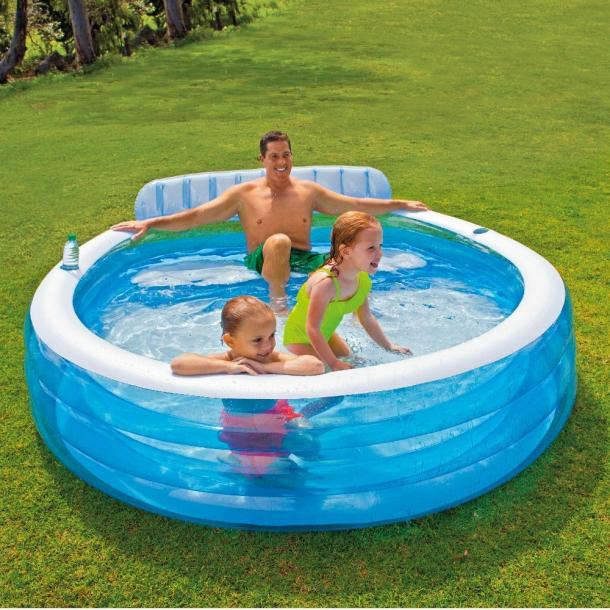 Family Pool Lounger with Bench