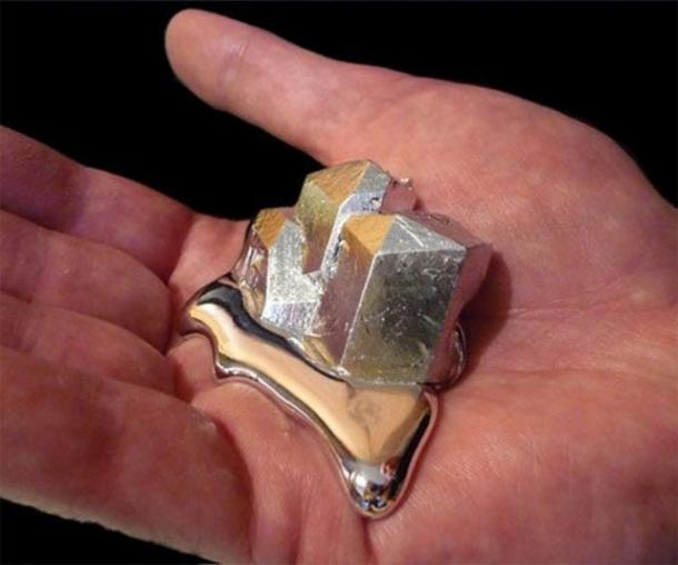 Gallium - the metal that melts in your hands