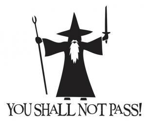 "Gandalf ""You Shall Not Pass"" Car Sticker"