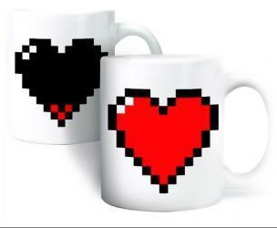 Pixel Heart Coffee Mug
