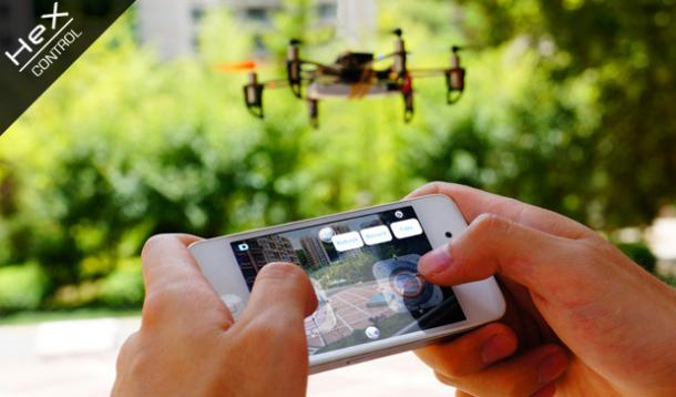 Hex: A Smartphone Controlled Nanocopter