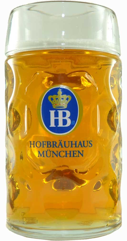 Hofbrauhaus 1 Liter Dimpled Beer Mug | The Coolest Stuff Ever