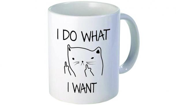 I Do What I Want Middle Finger Coffee Mug