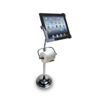 iPad Stand With Toilet Paper Holder