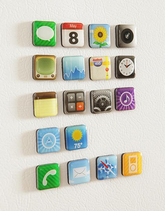 Fridge iPhone App Magnets