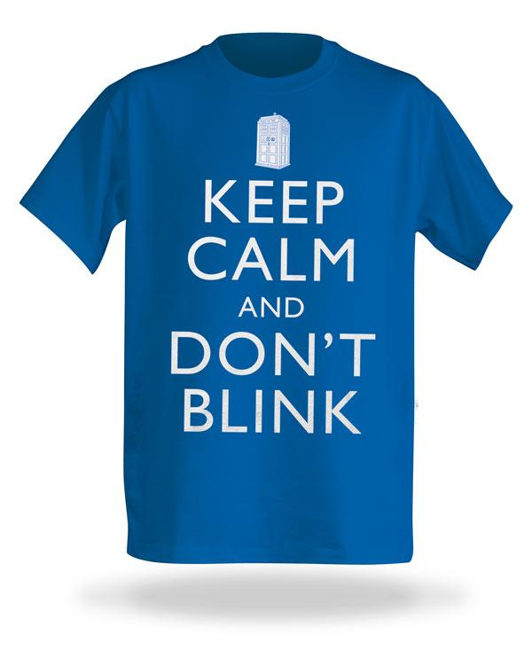 Dr. Who Keep Calm And Don't Blink Shirt