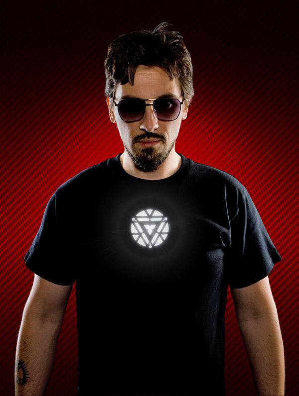 Light-Up LED Iron Man T-Shirt