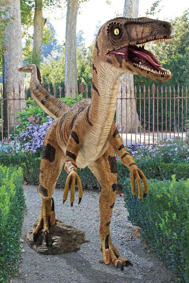 Life-Size Veliciraptor Statue