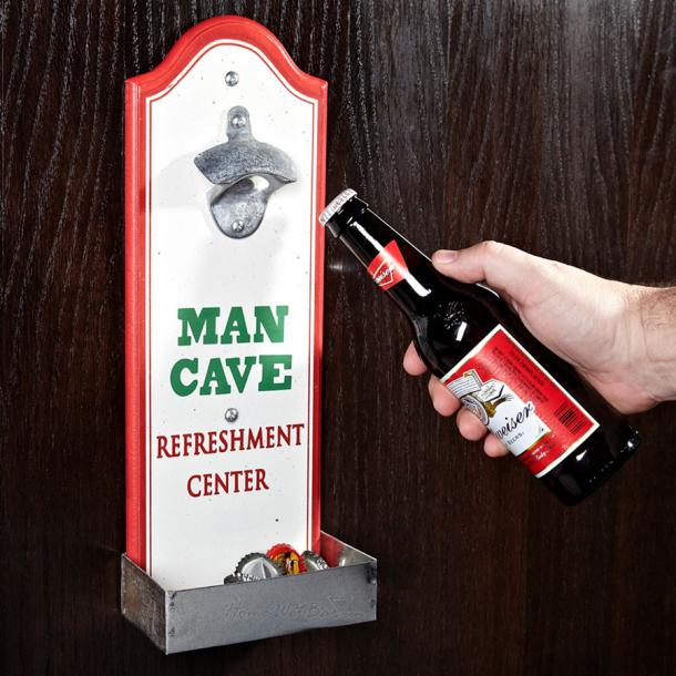 Man Cave Bbq Accessories : Beer bottle opener with cap catcher the coolest stuff ever