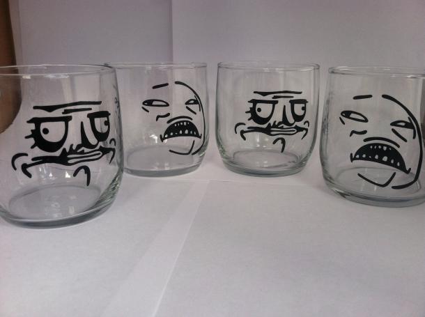 Meme Scotch Glasses