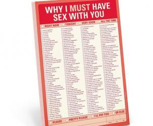Why I Must Have Sex With You Checklist