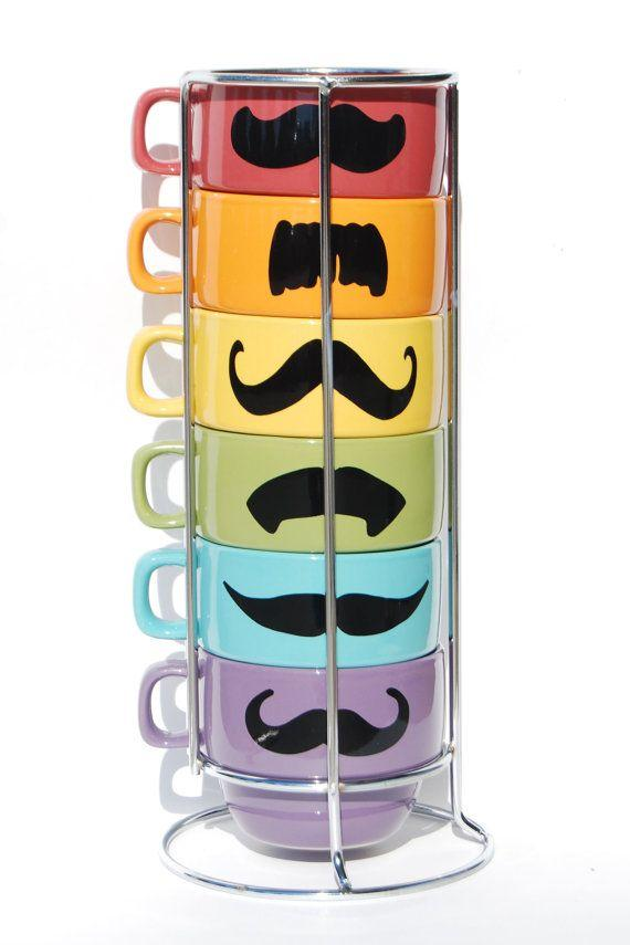 Mustache Coffee Mugs