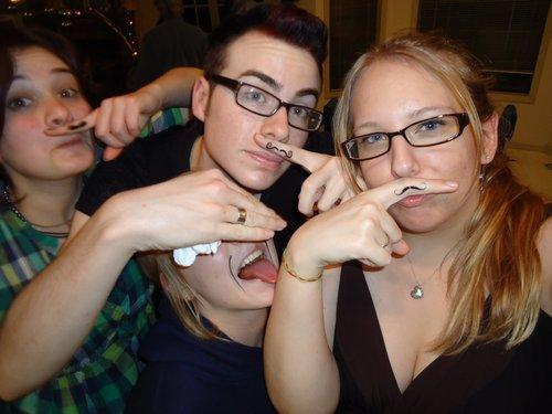 Finger Mustache Temporary Tattoos
