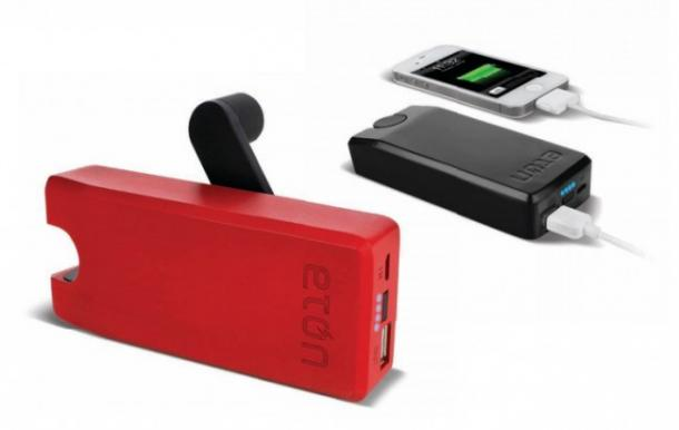 Phone Battery With Hand Crank