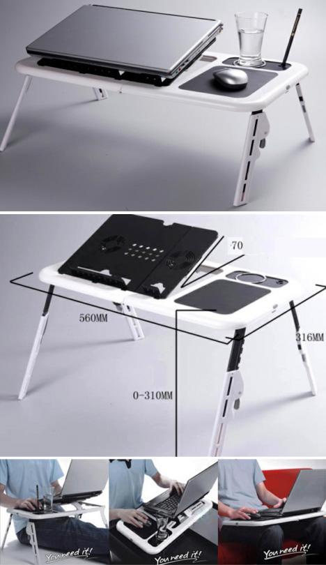 Portable Laptop Table The Coolest Stuff Ever