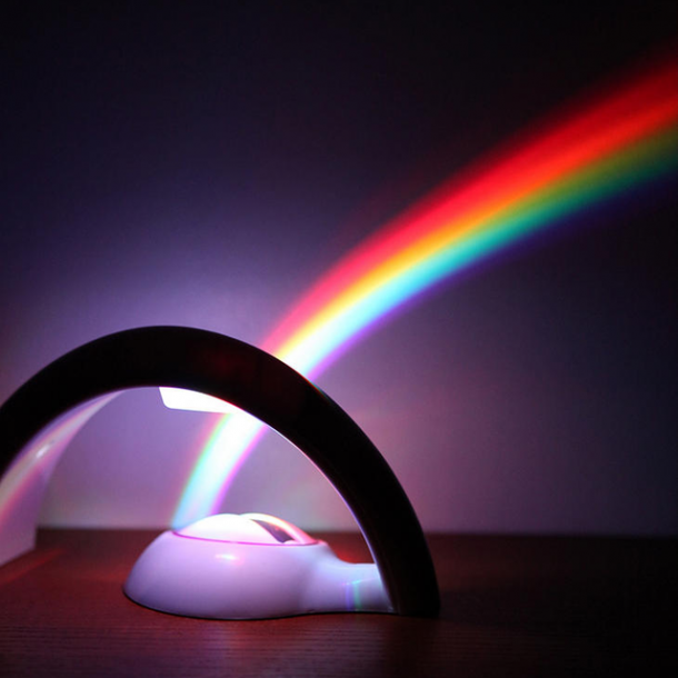 Rainbow Led Prism Projector The Coolest Stuff Ever
