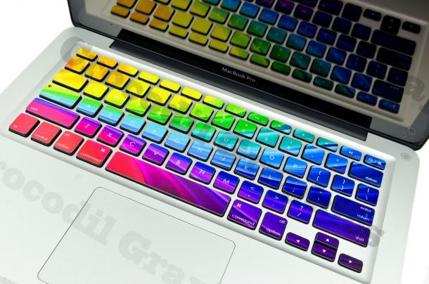 Rainbow Keyboard Stickers For Macbooks