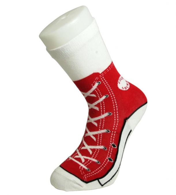 Red Converse All Star Chuck Taylor Socks The Coolest