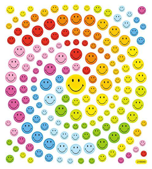 Huge Roll of 100 Smiley Face Stickers