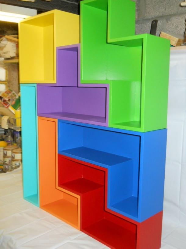 Stackable Tetris Shelves
