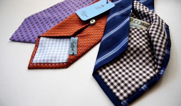 Ties With Hidden Pockets